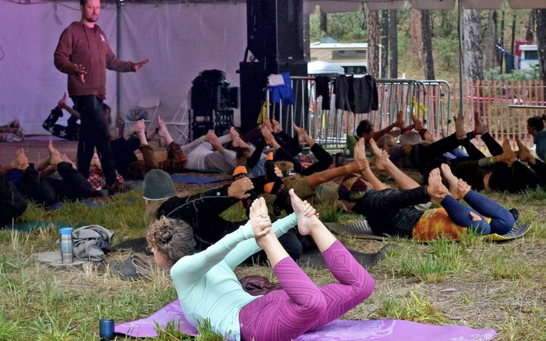 """Festival Extras include Morning Yoga; and """"Bubbles, Booze & Bluegrass"""" with Breckenridge Brewery & Talbott's Cider Co."""